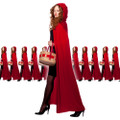 Red Long Velvet Hooded Cloak Dozen 4545D