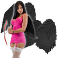 Black Feather Angel Wings Adult Dozen 4456D
