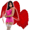 Adult Red Feather Angel Wings Dozen 4457D