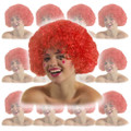 Red Clown Afro Wig Dozen 6032D