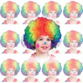 Rainbow Child Clown Wig Dozen 6028D