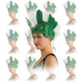 St Patricks Day Irish Mohawk Wig Dozen 6029D