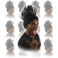 Black Mohawk Wig Dozen 6038D