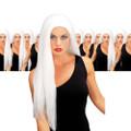 White 24 Inch Wicked Straight Wig Dozen 6049D