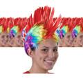 Rainbow Mohawk Wig Dozen 6066D