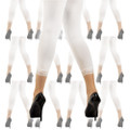 Footless Leggings Tights White with Lace Bottom Dozen 8013D