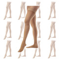 Beige Sheer Thigh High Stockings Dozen 8023D