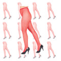 Red Fishnet Pantyhose Dozen 8042D