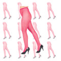 Hot Pink Fishnet Pantyhose Dozen 8043D