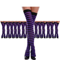 Thigh Highs Purple and Black Striped Dozen 8171D