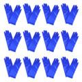 Short Royal Blue Dress Gloves Bulk Satin Dozen 1208D