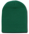 Beanie Cap Short Forest Green Hat 5740