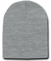 Short Beanie Light Grey Cap Hat 5737
