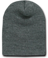 Short Beanie Dark Grey Charcoal 5741