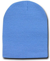 Short Beanie Hat Sky Blue 5743