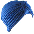 Royal Blue Turban Head Cover Hat 5978