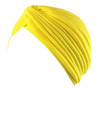 Yellow Turban Head Cover Hat 5976