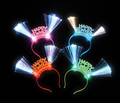 Happy New Year LED Headband Bulk Dozen 9226D