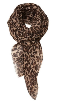 Leopard animal scarf