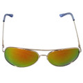 Mirrored Colored Aviators Sunglasses Orange/Yellow Lens 7131