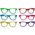 Bulk Lensless Party Glasses Dozen Multicolor 7145D