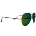 Aviator Sunglasses Colored Revo Green/Yellow Lens 7133
