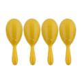 "4"" Plastic Neon Yellow Maraca 1766"
