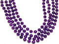 Mardi Gras Beads Purple 12mm Bulk Dozen 9900