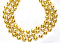 Mardi Gras Beads Gold 12mm Bulk Dozen 9902