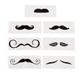 Mustache Tattoo Life-Size Assortment Dozen 9278D
