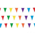 Pennant Banners Multicolor Rainbow 100ft 3898