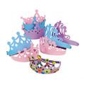 Foam Princess Tiaras Dozen 5520D