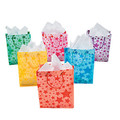Frosted Star Gift Bags Dozen 3943D