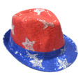 4th of July LED Fedora Light-Up Hat 5992