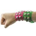 Pink Wristband Bulk Neon Studded Dozen WS6510D