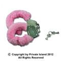 Pink Furry Handcuffs Dozen WS1817D