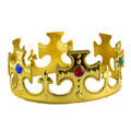 Gold King Costume Crown Dozen WS1440D