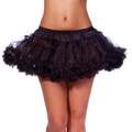 Black Petticoat Double Layer Tulle WS8218D