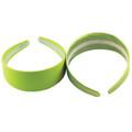 80's Neon Green Satin Headband WS6669D