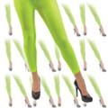Neon Green Footless Leggings Tights  Dozen WS8015D