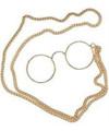 Pince Nez  Bulk Glasses w/ Chain WS1197D