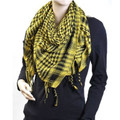 12 PK Black And Yellow Arab Shemagh Houndstooth Scarf WS2085D
