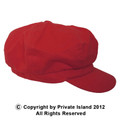 Newsboy Cap Red Adult Polyester/Rayon WS1403D