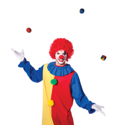 Clown juggling