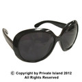 DOZEN Black Jackie Oversized Sunglasses WS1138D