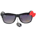 Hello Kitty Sunglasses Black Frame and Red Bow 7114