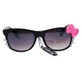 Hello Kitty Sunglasses Black Frame and Pink Bow 7116
