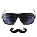 Black Mustache Shutter Shades Sunglasses 7403