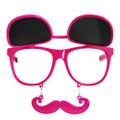 Flip Up Mustache Sunglasses Hot Pink 7401