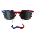 4th of July American USA Mustache Sunglasses